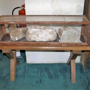 Medieval stone display case