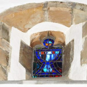 Stained glass clerestory window