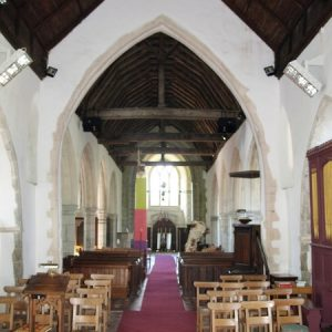 The nave looking towards the tower arch