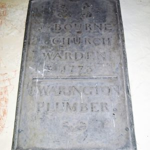 Left-hand lead sheet plaque