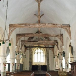 The nave king post roof
