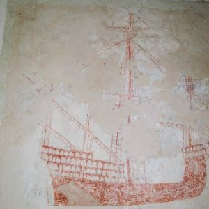 The ship wall painting