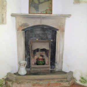 The chapel fireplace