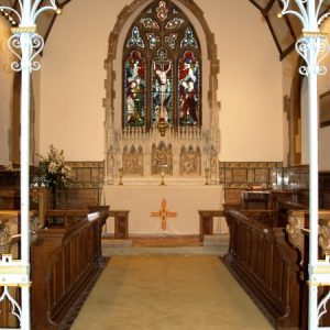 The chancel and screen