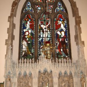 The reredos and east window