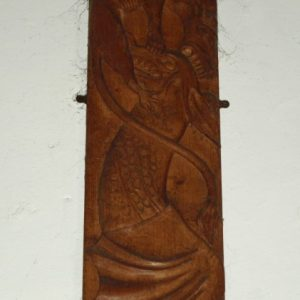 The Clandon Legend carving
