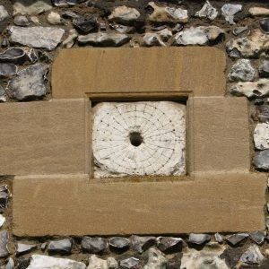 Sundial on the south wall