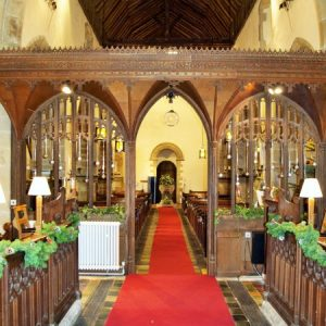 The view looking west from the chancel