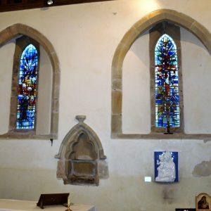 Two Early English lancet windows