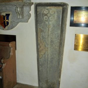 Stone coffin lid