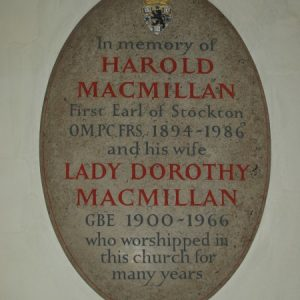 MacMillan memorial plaque