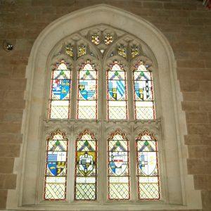 Frewen mausoleum north window