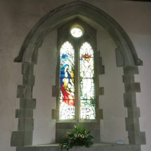 Two light north aisle window