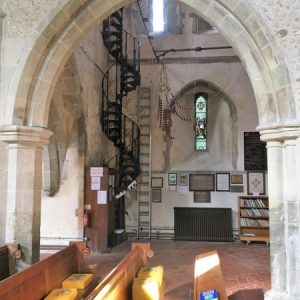 Spiral stairs in the north transept