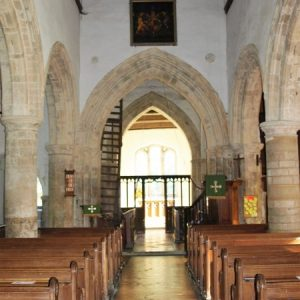 The nave looking towards the chancel arch