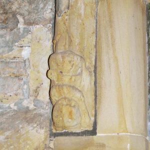 South doorway head-stop