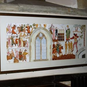 Explanatory reproduction of the murals