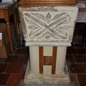The 13th/14th century font