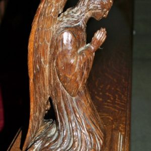 Angel carving on choir stalls