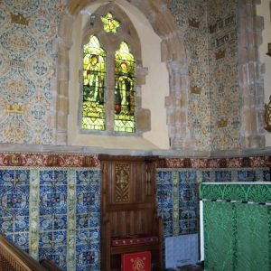 The chancel north wall