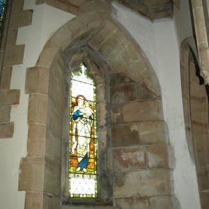 Choir aisle north window