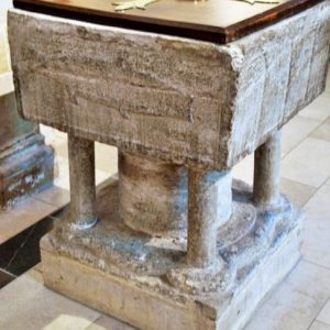 The late Norman font