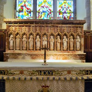 The alabaster reredos
