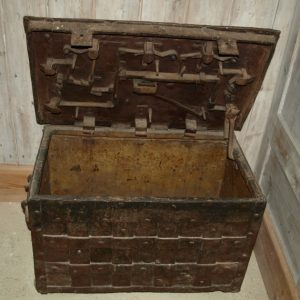 15th/16th century iron chest