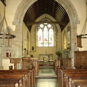 Rare pews in the nave