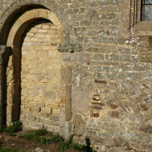 Blocked early Norman doorway