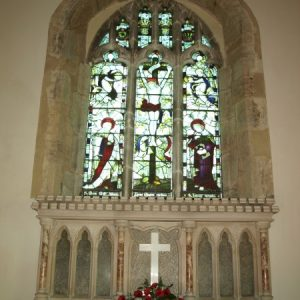 Reredos and east window
