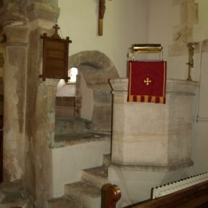 Opening between nave and chancel