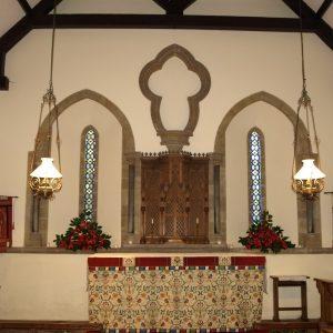 13th century chancel part rebuilt 1731