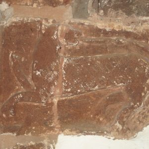 Carving on south arch respond