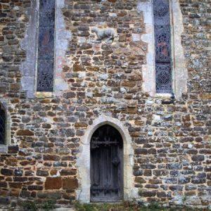 Priests' doorway with animal carving above