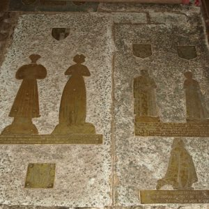 2 Barttelot family floor brasses