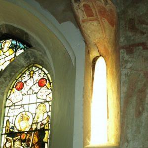 Part blocked Saxon window