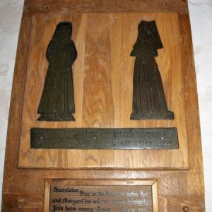 Brass to John and Margaret Ips