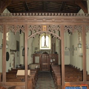 The chancel screen