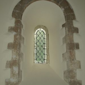 Splayed Norman lancet window