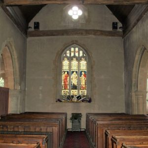 The west wall from the nave