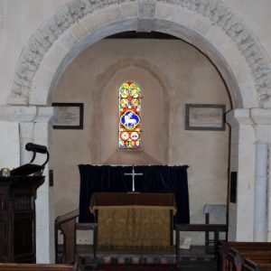 Mid 12th century chancel arch