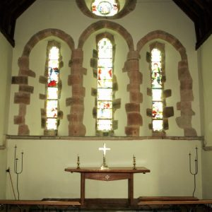 East windows in the chancel