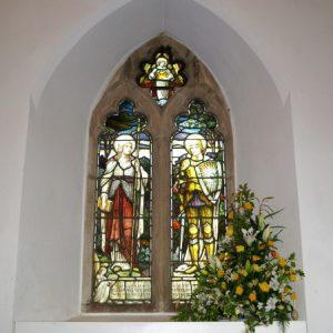 2-light cinquefoil headed window