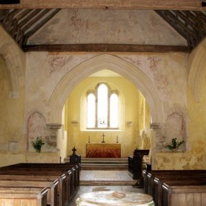 The nave and chancel arch