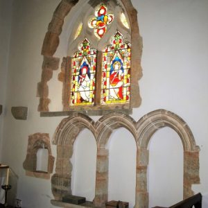 Triple sedilla in chancel