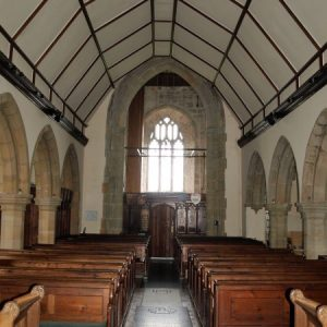 The nave viewed looking west