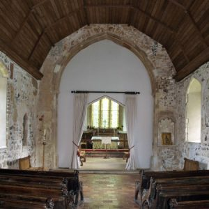 Norman nave and 14th century chancel arch