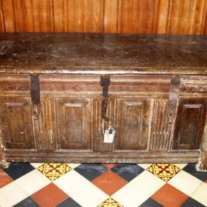 17th century oak parish chest