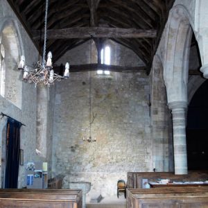 The south aisle, looking west